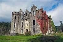 """Dunans Castle, because my husband """"bought"""" us each a square foot of land on the grounds, making us laird and lady.  Yeah, Clan Gordon takes this Scottish ancestry thing pretty seriously."""