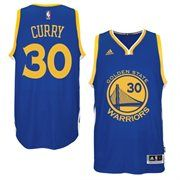 Mens Golden State Warriors Stephen Curry adidas Royal Blue 2014-15 New Swingman Road Jersey