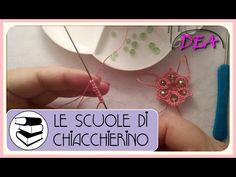 12°Tutorial di Chiacchierino ad ago: inserimento delle perle nei cerchi.