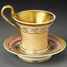 Cup with Lithophane, c. 1920 Probably KPM, with saucer
