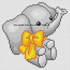 Cross stitch elephants (Whole page of patterns!):