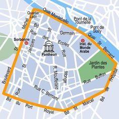 Map of the Quartier Latin