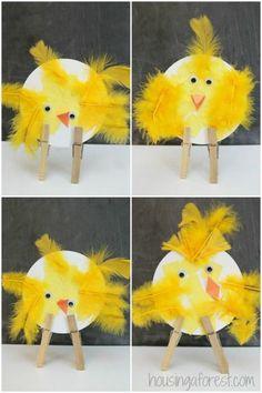 Easter Chicks ~ simple bird crafts for preschoolers