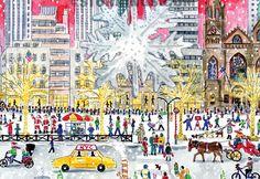 Michaels Storrings's Art as seen in A Very New York Christmas