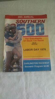 Southern 500 Labor Day 1978 Raceing Magazine Vintage