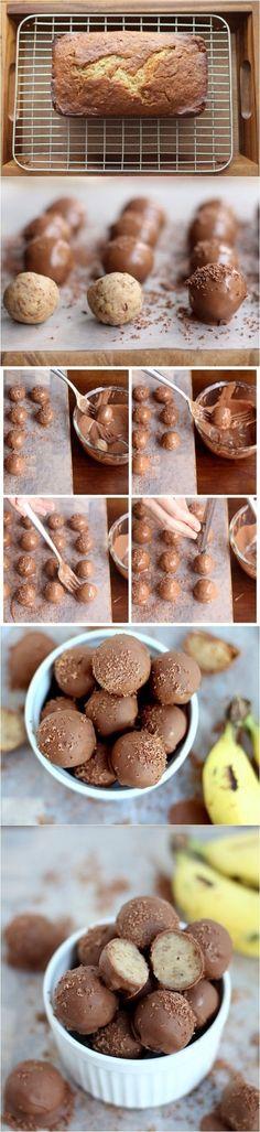 Chocolate Banana Bread Truffles