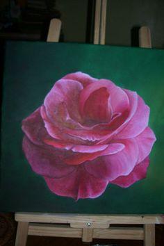 Rosa Perfumada Oleo 40x40