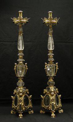 Pair of altar candlesticks