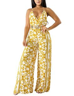 Joe Wenko Womens Off Shoulder Casual Pure Colour Long-Sleeve Cut Out Rompers Jumpsuits