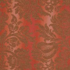 Burnt Orange/Sienna Floral Brocade