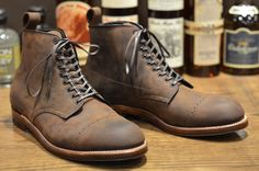 Alden Vintage Jumper. Horween oiled nubuck leather.