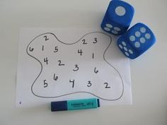 Teach Number Recognition Using Dice