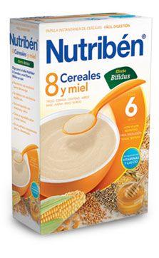 Nutriben papilla 8 cereales y miel efecto bifidus para bebes a partir del sexto mes. #nutriben #papilla #bifidus