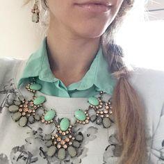 """Maggie"" necklace by Plunder Design.  ( women  jewelry  accessories  vintage  pendants )  https://www.facebook.com/groups/HeathersPlunderDesign/"
