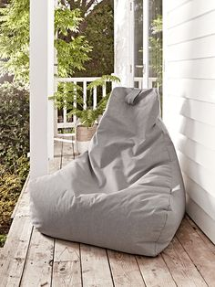 Indoor Outdoor Beanbag - Grey - Luxury Bean Bags & Bean Bag Chairs - Luxury Seating - Luxury Home Furniture Grey Garden Furniture, Rattan Outdoor Furniture, Luxury Home Furniture, Bathroom Furniture, Furniture Design, Rustic Furniture, Vintage Furniture, Furniture Ideas, Modern Furniture
