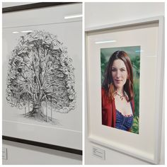 In Memoriam Francesca Lowe was an exhibition held by Charlie Smith London, after she sadly passed away. The photo shows Lux, an artwork by herself and a portrait of her drawn by Des Lawrence.