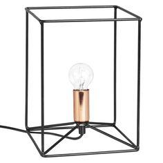 Lampada nera in fili di metallo   Maisons du Monde