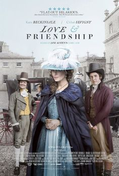 Cartel (poster) de #LoveandFriendship, adaptación de #LadySusan de #JaneAusten, dir y guión Whit Stillman.