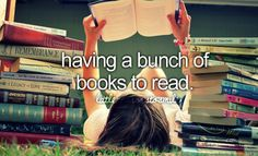 The only reason I haven't read In a while is bc I don't have any good books :c I need to go to the library..