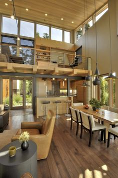Awesome Home Design to Your House: Fascinating Open Plan Space Sunset Point Residence Interior