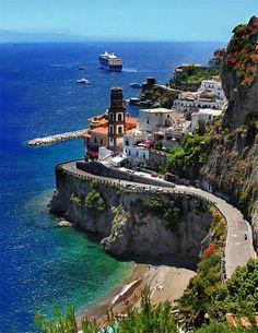 Beautiful Seaside Scenic Road, Amalfi Coast – Italy