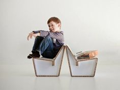 Recycled cardboard chair for kids