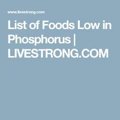 low phosphorus food list pdf