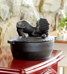 Cast Iron Wood Stove Steamer In Cat Design