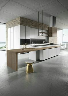 Luxury Kitchen 30 Awesome Black And White Wood Kitchen Design Ideas White Wood Kitchens, Wooden Kitchen, New Kitchen, Cool Kitchens, Kitchen Decor, Kitchen Ideas, Modern Kitchens, Kitchen Corner, Kitchen Pantry
