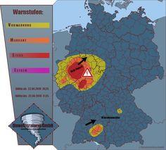 Starke Gewitter über NRW und Hessen