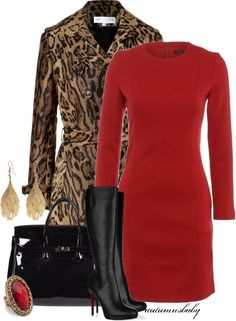 """""""Allure"""" by autumnsbaby on Polyvore - red with camel"""