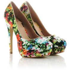 Kitsch Couture Banana Heels ($46) ❤ liked on Polyvore