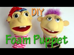 How to make a Foam Puppet - Ana | DIY Crafts. - YouTube
