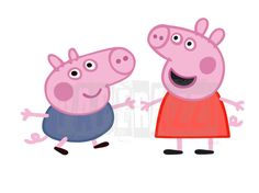 Peppa Pig Inspired SVG Electronic cutting files for Cricut Design Space - Silhouette Studio by PapperazziCo on Etsy