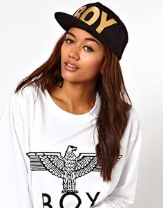 BOY London Gold Logo Snapback Cap