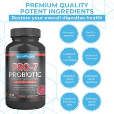 【 SUPPORTS GASTROINTESTINAL HEALTH 】: Activ Folks Pro-7 Probiotics contain microorganisms which are beneficial bacteria that occur naturally in the human gut. Pro-7 supplement is packed with most beneficial probiotics for healthy gastrointestinal function like Lactobacillus rhamnosus, casei, acidophilus, plantarum, Bacillus subtilis, Bifidobacterium breve, and Bifidobacterium longum. 【 SUPPORTS IMMUNE SYSTEM 】: Pro-7 probiotic supplement helps in maintaining immunologic equilibrium in the… Lactobacillus Acidophilus, Probiotics For Men, Healthy Bowel Movement, Bacillus Subtilis, Microorganisms, Immune System, Products, Gadget