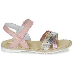 97d86a07e Zapatos Niña Sandalias Citrouille et Compagnie GIRAFFON Rosa   Plata  Sandalias Andrea