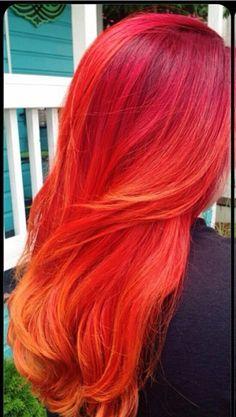 Red orange hair