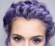 Lilac hair ~ love this colour