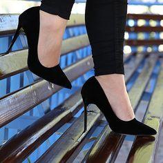 Siyah Stiletto - Ayakkabı Çanta Dükkanı Stiletto Heels, Shoes, Fashion, Moda, Zapatos, Shoes Outlet, Fashion Styles, Shoe, Footwear