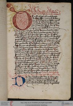 Cod. Pal. germ. 4: Cod. Pal. germ. 4 Rudolf von Ems: Willehalm von Orlens ; Dietrich von der Glesse: Der Gürtel (Borte) ; Peter Suchenwirt: Liebe und Schönheit u.a. (Schwaben/Grafschaft Oettingen (?), 1455-1479)