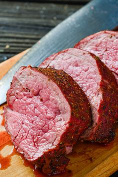 Tender Traegered beef tenderloin is a delicious herb-crusted dish that will be the perfect centerpiece at your holiday dinner. - Tender Traegered beef tenderloin is a delicious herb-crusted dish that will be the perfect centerpiece at your holiday dinner. Grilled Beef Tenderloin, Beef Tenderloin Recipes, Roast Recipes, Grilling Recipes, Cooking Recipes, Smoker Recipes, Pork Loin, Grilled Steaks, Cooking Stuff