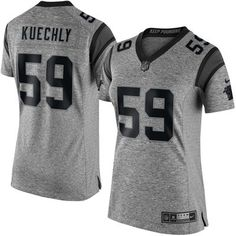 This is THE HOTTEST I have ever seen. Women's Carolina Panthers Luke Kuechly Nike Gray Gridiron Gray Limited Jersey