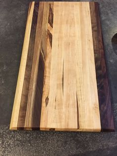 """Cutting Board End Grain Black Walnut Ambrosia Maple Mix 18.75""""L x 10.75""""W x 1""""T"""