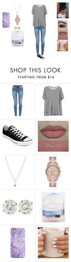 """""""tuesday outfit :)"""" by mazixoxo on Polyvore featuring T By Alexander Wang, Converse, LC Lauren Conrad, MICHAEL Michael Kors and JanSport"""