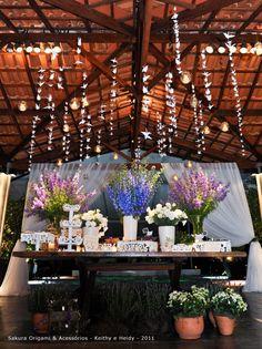 decoracao com 1000 tsurus - casamento personalizado