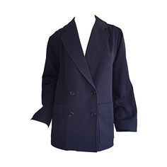"""Classic 1960s 1970s Vintage Yves Saint Laurent """" Rive Gauche """" Navy Swing Coat 