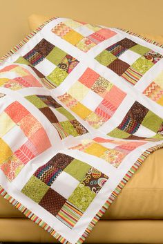 Have some extra fabric? free pattern for a Nine Patch Stash Buster quilt!