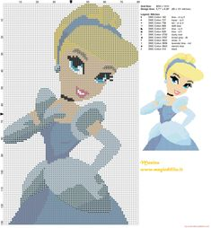 Cinderella cross stitch pattern - 2628x2836 - 2905513