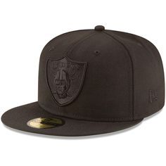 New Era Casquette Tonal Black 9Fifty Stretch Snapback ~ Oakland Raiders
